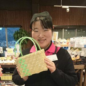 にしむらさん(手作りカゴ)