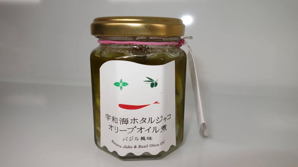アゴラマルシェオリジナル商品「宇和海 ホタルジャコオリーブオイル煮」