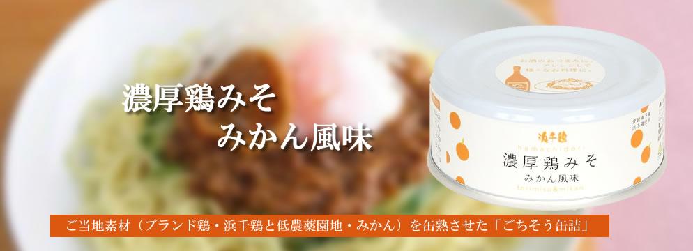 濃厚宇鶏味噌みかん風味