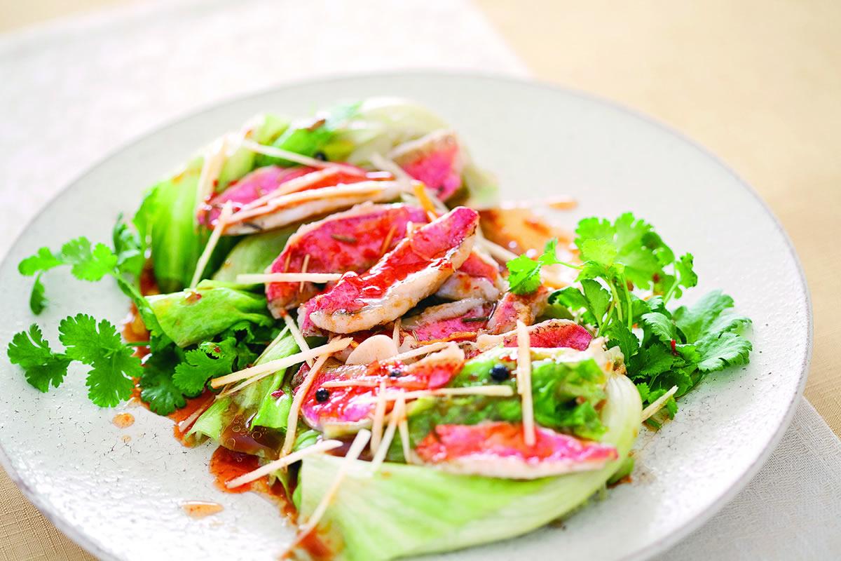ゆでレタスの中華風サラダ