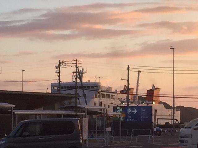 8月13日の八幡浜港
