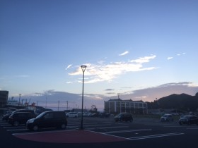 夕陽に照らされた雲