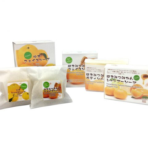 はちみつみかん&柚子石鹸(ボディ用・フェイス用・シャンプー)