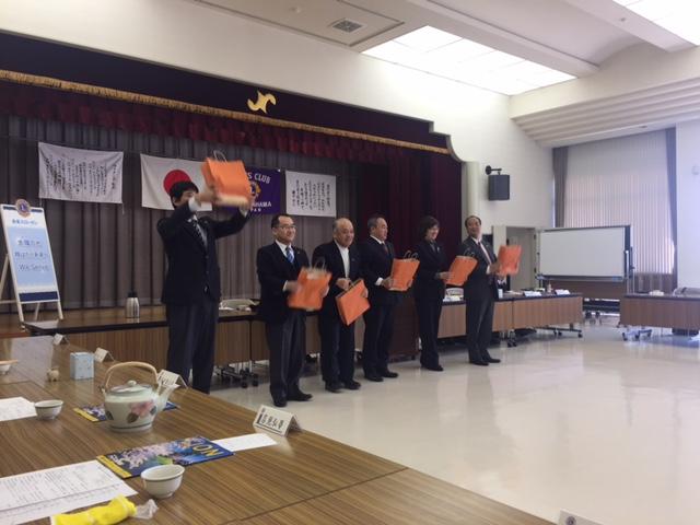 八幡浜ライオンズクラブ4月の誕生日メンバー