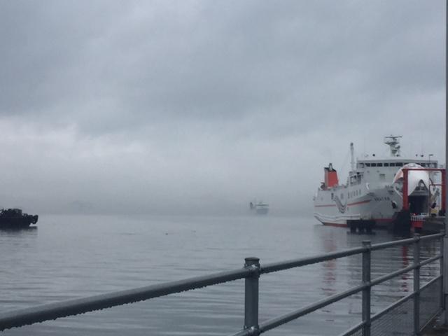 九州から入港する船