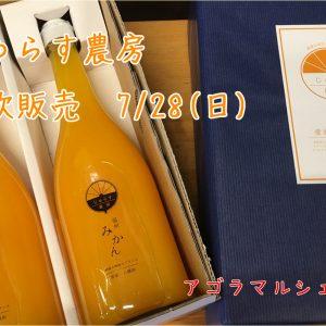 じゅらす農房 柑橘ジュース試飲販売【イベント情報】