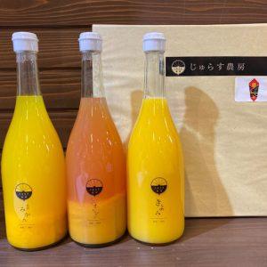 お中元やお祝いに「みかんジュース3本セット」愛媛県八幡浜市産
