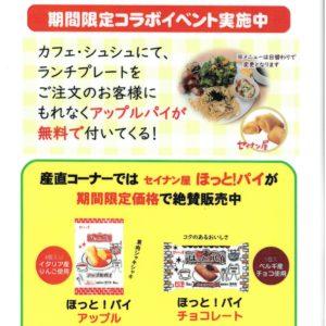 【期間限定】カフェ・シュシュにてアップルパイがついてくる!